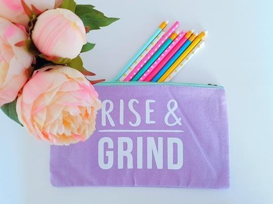 Make Up Bag - 'Rise & Grind'