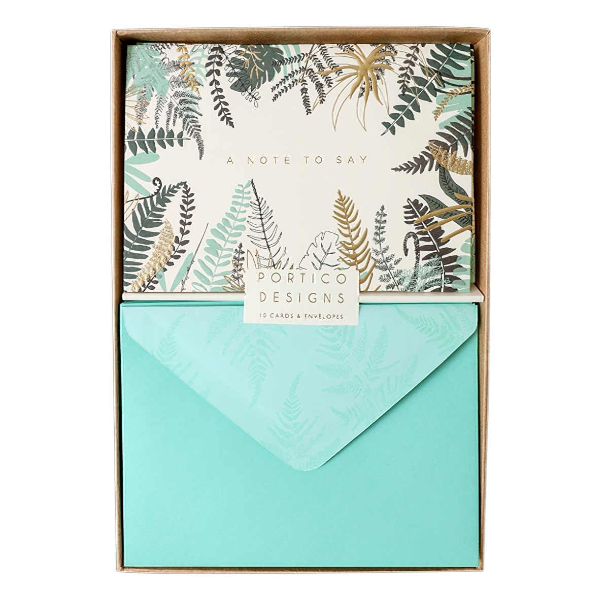 Portico Notecards - Ferns (Pack of 10)