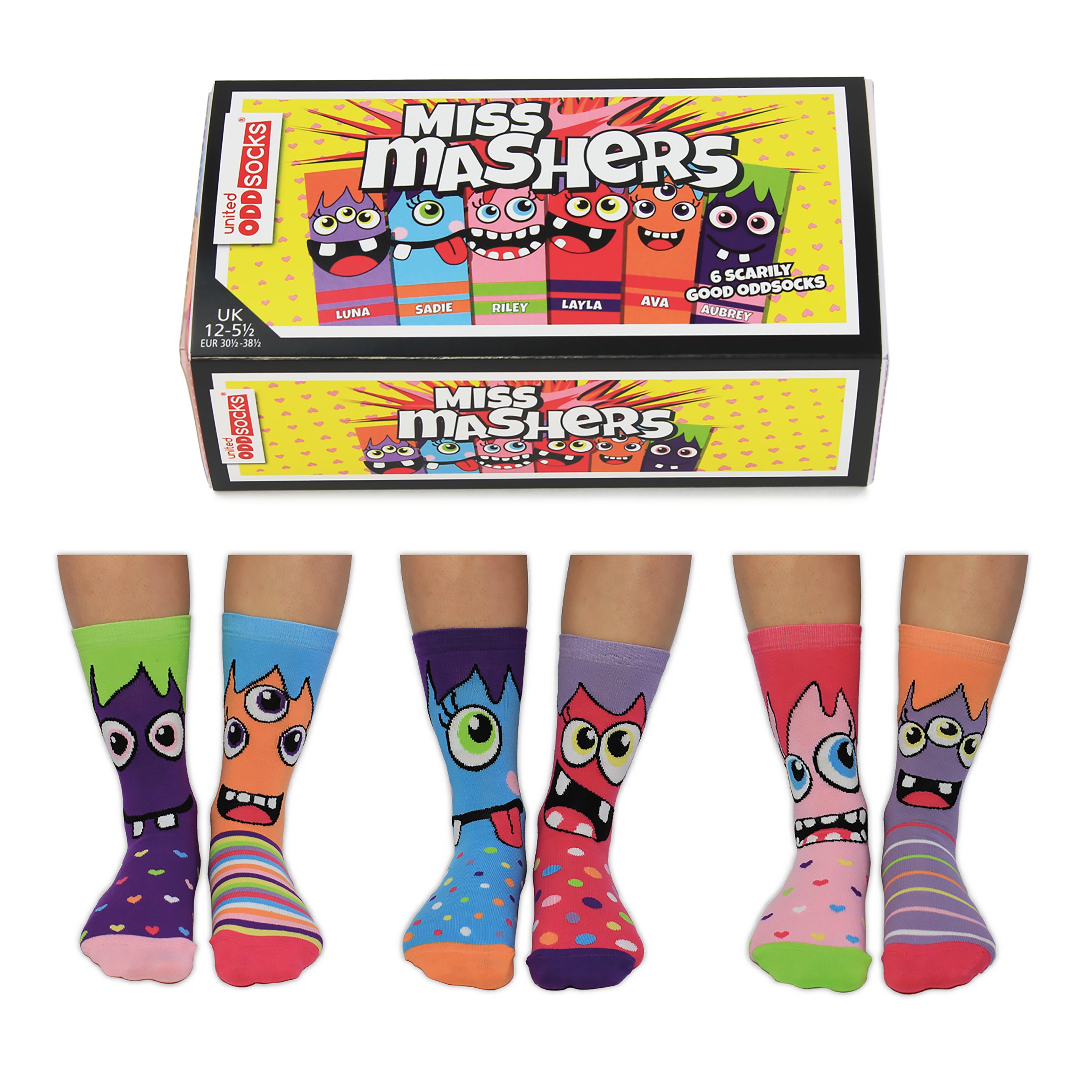 Miss Mashers - Socks for Girls by United Oddsocks UK 12 - 5.5