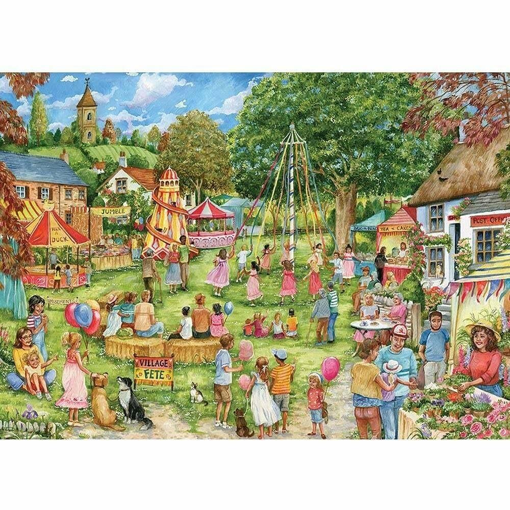 1000 Piece Rectangular Jigsaw - Village Fete