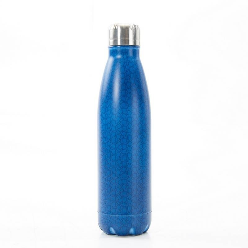 Navy Disrupted Cubes Thermal Bottle