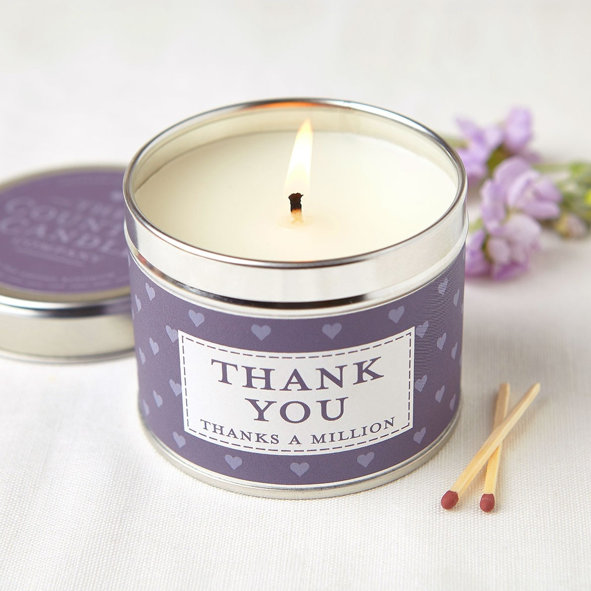 Thank You Tin Candle