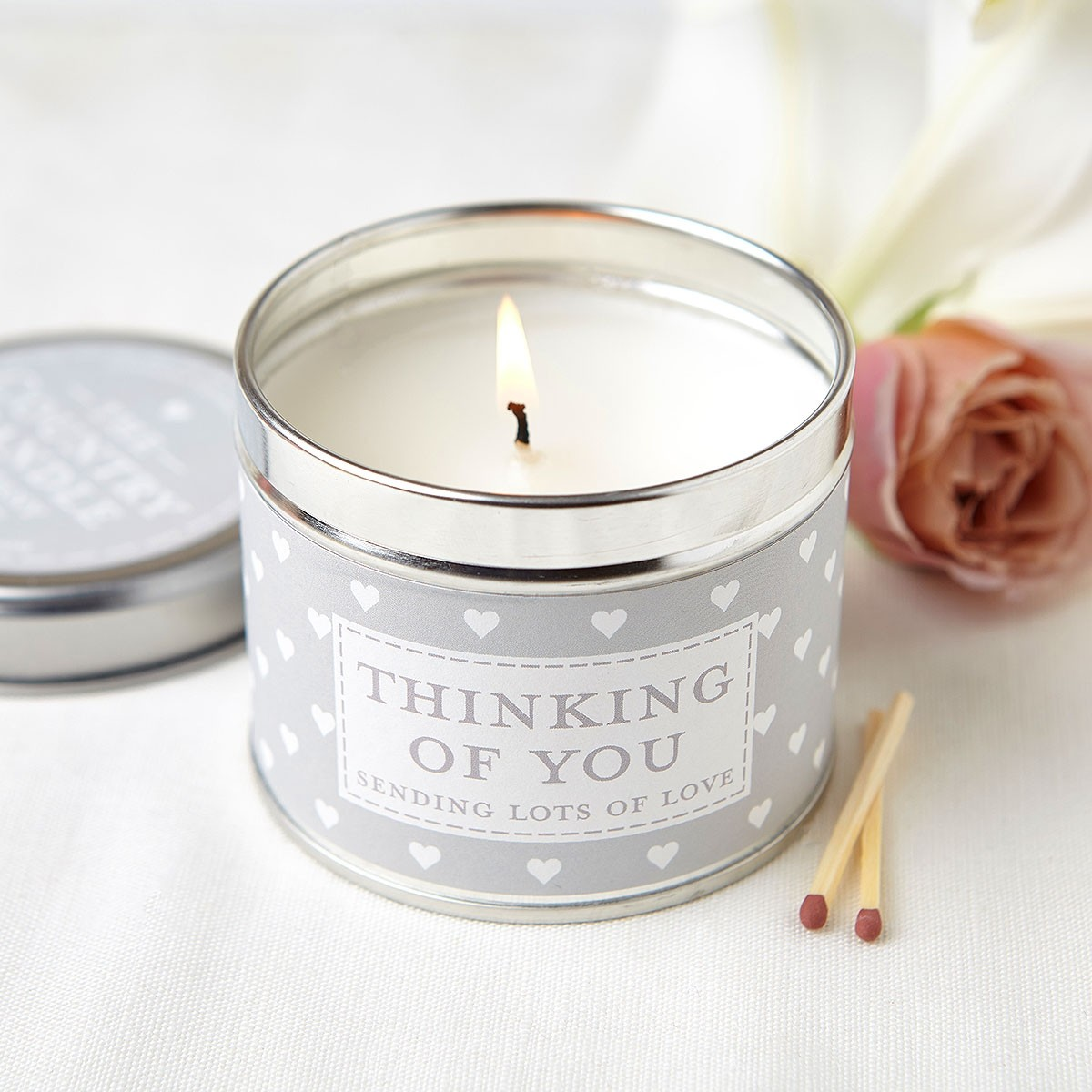 Thinking Of You Tin Candle