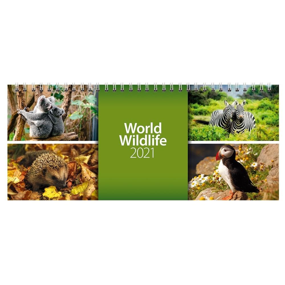 2021 World Wildlife Desk Calendar