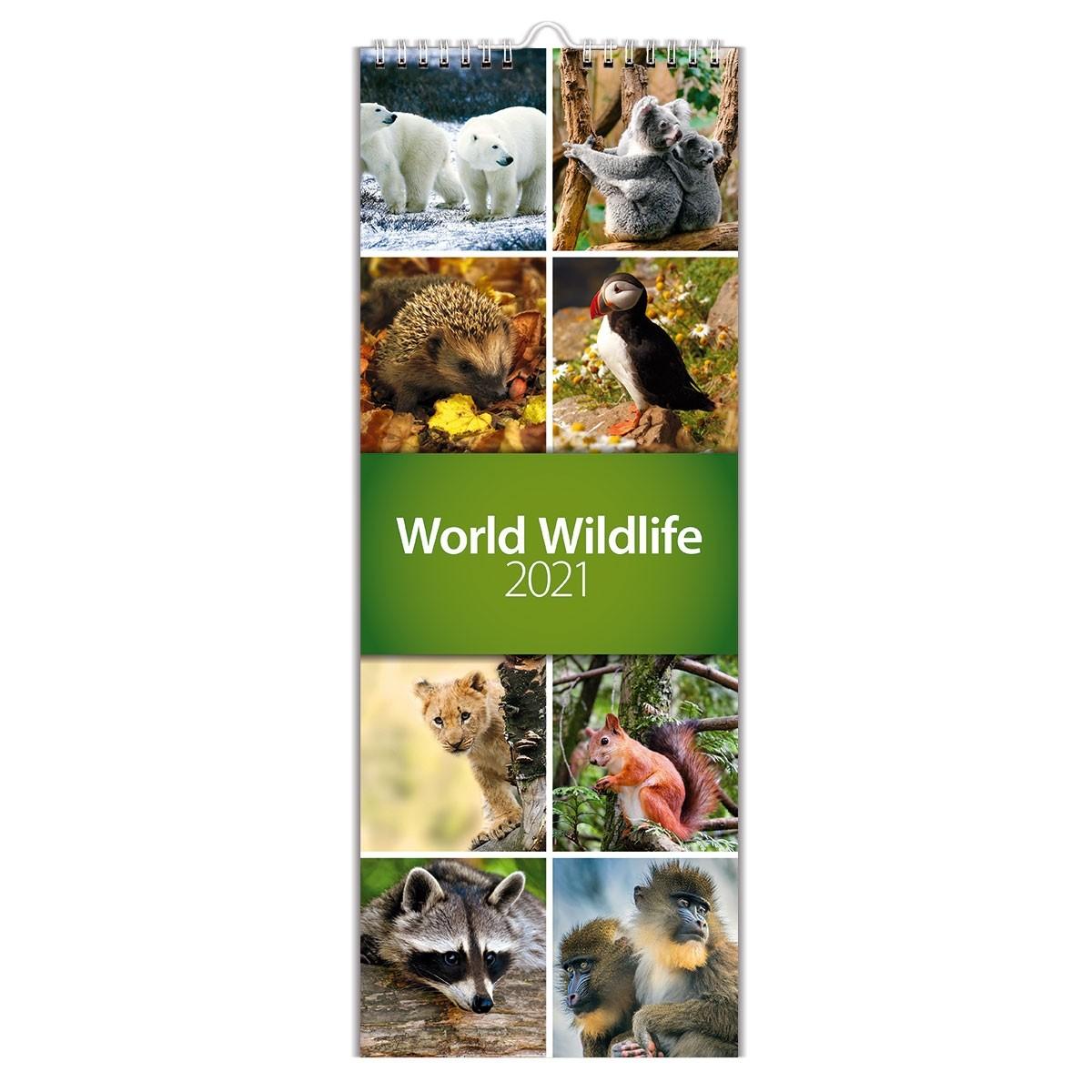 2021 World Wildlife Slim Wall Calendar