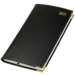 2021 Kingston Leather Pocket Diary - Bookbound - Senator - Week to View
