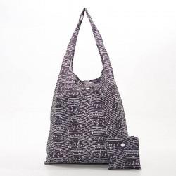 Black Music Folding Shopper Bag