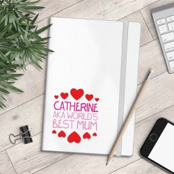 Personalised A5 Notebook - AKA World's Best Mum - myNo Book