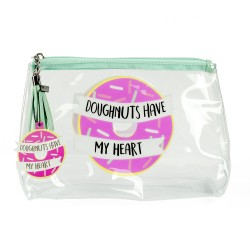 Travel Wash Bag - 'Doughnuts Have My Heart'