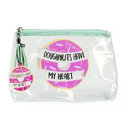 Travel Wash Bag - 'Doughnuts Have My Heart'