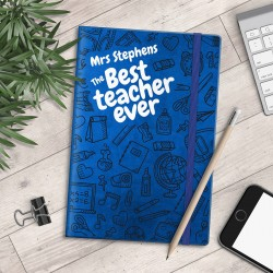 Personalised A5 Notebook - The Best Teacher Ever - myNo Book