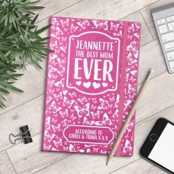 Personalised A5 Notebook - Best Mum Ever - Butterflies - myNo Book