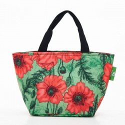Green Poppies Lunch Bag
