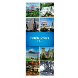 2022 British Scenes Slim Wall Calendar