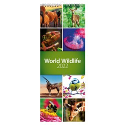 2022 World Wildlife Slim Wall Calendar
