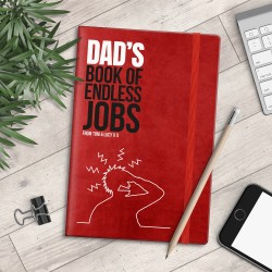 Personalised A5 Notebook - Dad's Book of Endless Jobs - myNo Book