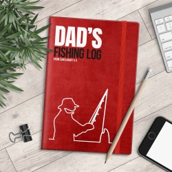 Personalised A5 Notebook - Dad's Fishing Log - myNo Book
