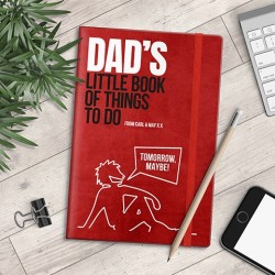 Personalised A5 Notebook - Dad's Little Book of Things To Do - myNo Book