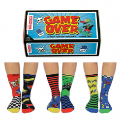 Game Over - Socks for Boys by United Oddsocks UK 12 - 6