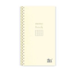 Diary Select Memo Book Spiral Notebook - Gridded Paper