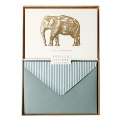 Portico Notecards - Elephant (Pack of 10)