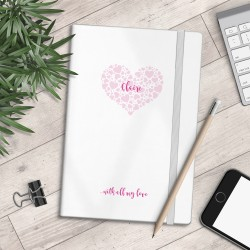 Personalised A5 Notebook - With All My Love - myNo Book
