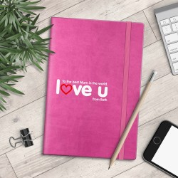 Personalised A5 Notebook - To the Best Mum in the World - Love U - myNo Book