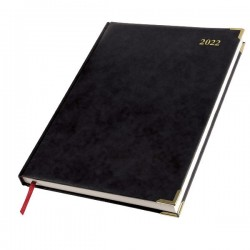 2022 Leathertex A4 Diary - Bookbound - President - Page a Day