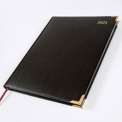 2021 Leathertex Desk Diary - Bookbound - Ambassador - Quarto Week to View