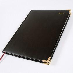 2022 Leathertex Desk Diary - Bookbound - Ambassador - Quarto Week to View