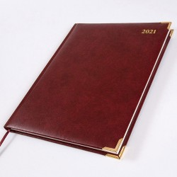 2021 Leathertex Desk Diary - Bookbound - Ambassador - Quarto Week to View