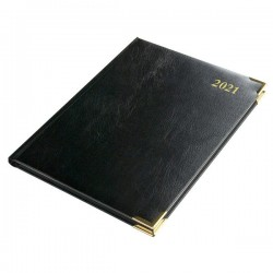 2021 Leathertex COMPACT Desk Diary - Bookbound - Statesman - Week to View