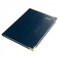 2021 Leathertex COMPACT Desk Diary - Bookbound - Statesman - Week to View