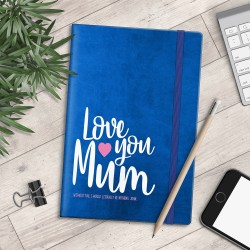 Personalised A5 Notebook - Love You Mum - Nothing Without You - myNo Book