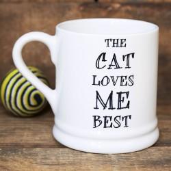 'The Cat Loves Me Best' Mug