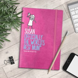Personalised A5 Notebook - Officially The World's Best Mum - myNo Book