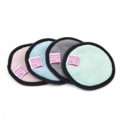 Erase Your Face Makeup Removing Pads - 4PK - Pastels