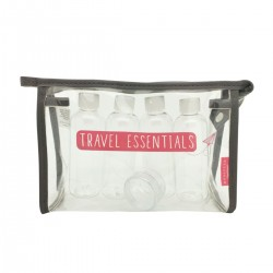 Paperplanes Wash Bag with Bottles