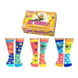 Bee Yourself - Socks for Ladies by United Oddsocks UK 4 - 8