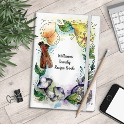 Personalised A5 Notebook - Family Recipe Book - myNo Book