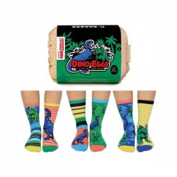 Dino Eggs - Socks for Boys by United Oddsocks UK 12-6