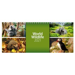 2021 World Wildlife Desk Calendar